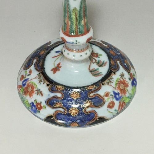 China - Companies of the Indies - Porcelain candlestick - eighteenth c -