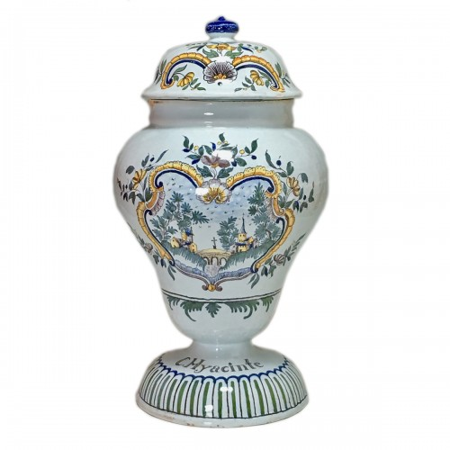 Moulins - Large vase covered with pharmacy - eighteenth century