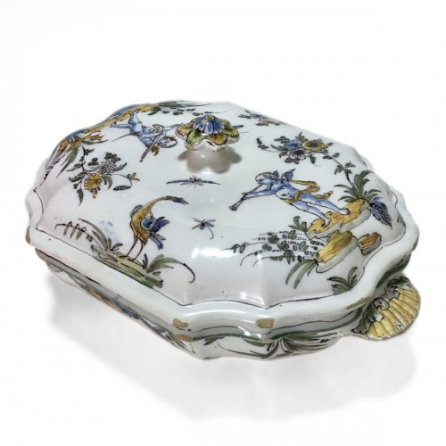 Terrine earthenware Lyon - Pierre Mongis period - eighteenth century