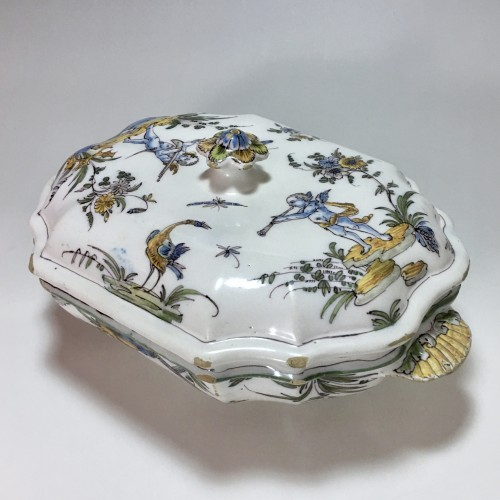 Terrine earthenware Lyon - Pierre Mongis period - eighteenth century -