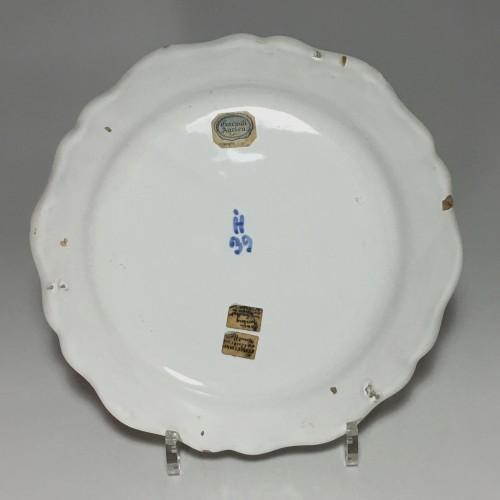 STRASBOURG - Pair of plates in fine quality - Eighteenth century -