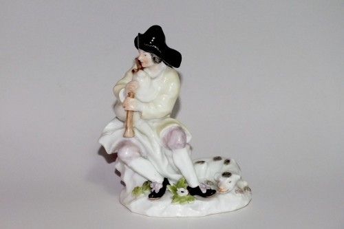 Bagpipe player - Meissen 18th century -