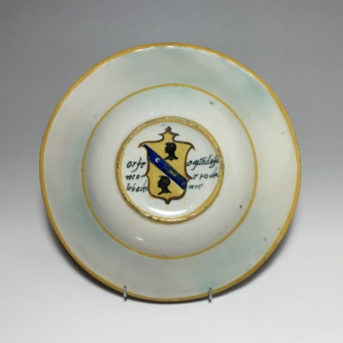 "Porcelain & Faience  - Urbino majolica dish ""Orpheus and the Bacchae"" School of Xanto - circa 1540"
