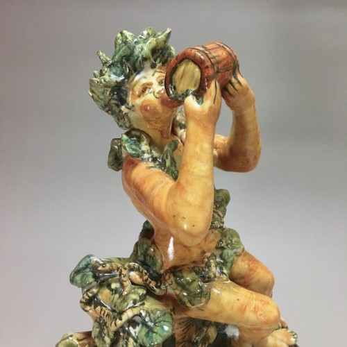 Porcelain & Faience  - Fountain depicting Bacchus in majolica from Urbino, Patanazzi workshop circ