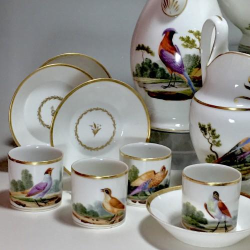 Tea and Coffee Service with Bird Decor - Paris, Empire Period -