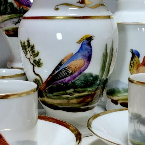 19th century - Tea and Coffee Service with Bird Decor - Paris, Empire Period