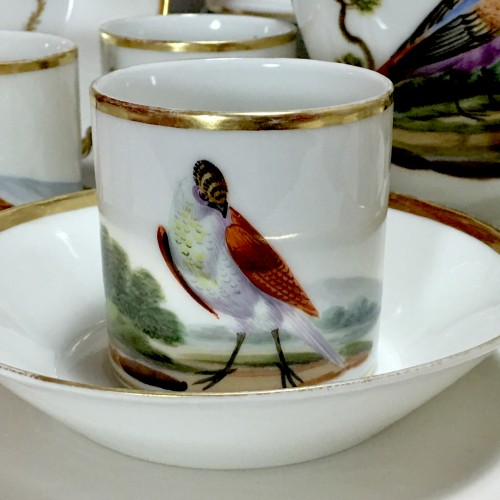 Tea and Coffee Service with Bird Decor - Paris, Empire Period - Empire