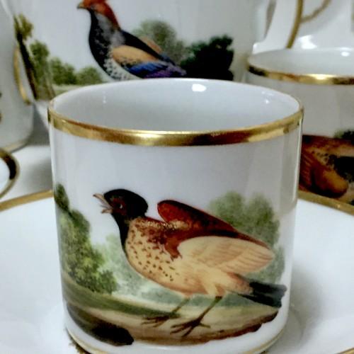 Empire - Tea and Coffee Service with Bird Decor - Paris, Empire Period