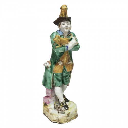 Sceaux - Rare earthenware statuette - eighteenth centu