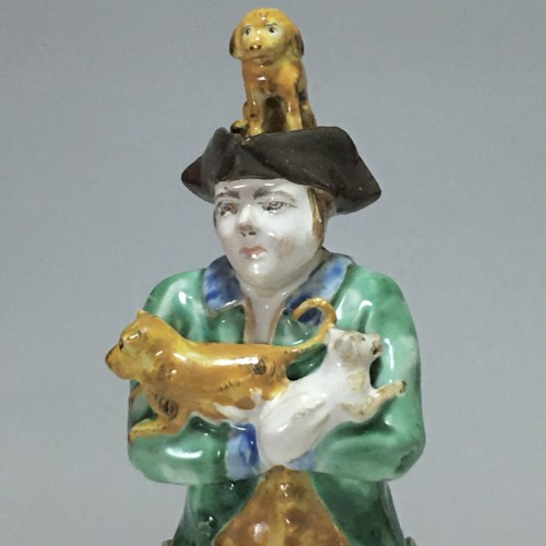 Sceaux - Rare earthenware statuette - eighteenth centu -