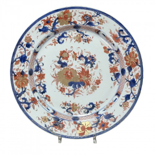 "CHINA - Important dish ""Imari"" - Kangxi period (1662-17"