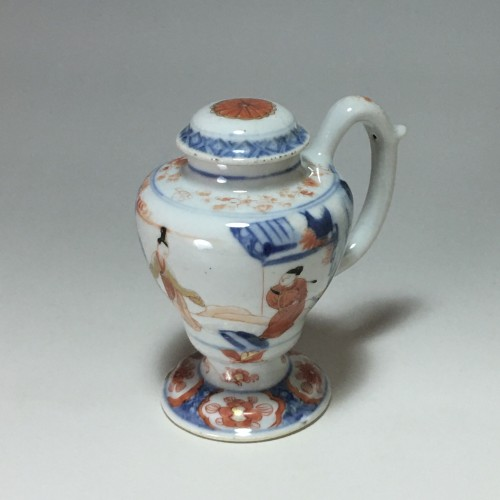 18th century - Moutardier en porcelaine de Chine - Époque Kangxi (1662- 1722)