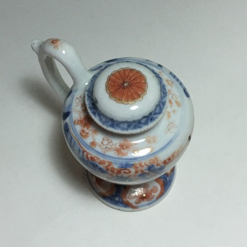 Moutardier en porcelaine de Chine - Époque Kangxi (1662- 1722) - French Regence