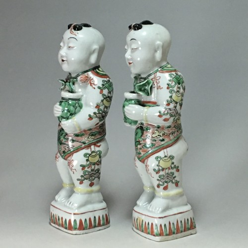 "Pair of ""Hoho"" - China Kangxi period (1662 - 1722) - Porcelain & Faience Style French Regence"