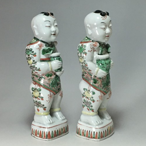 "Porcelain & Faience  - Pair of ""Hoho"" - China Kangxi period (1662 - 1722)"