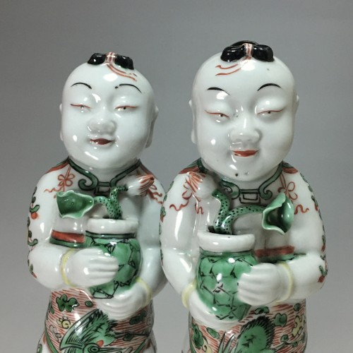 "Pair of ""Hoho"" - China Kangxi period (1662 - 1722) -"