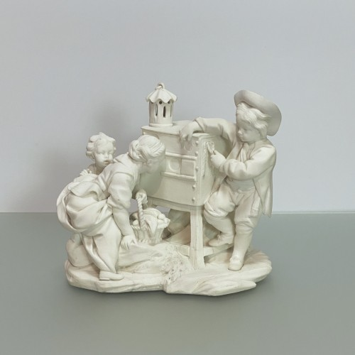 Pair groups in Sèvres soft porcelain biscuit - eighteenth century - Porcelain & Faience Style Louis XV