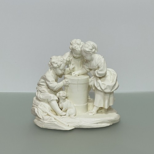 Porcelain & Faience  - Pair groups in Sèvres soft porcelain biscuit - eighteenth century