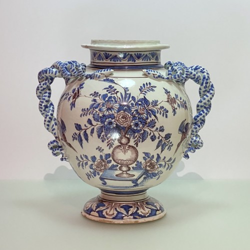 Montpellier - Olliver Factory - Large pharmacy vase - Around 1700 - Porcelain & Faience Style Louis XIV