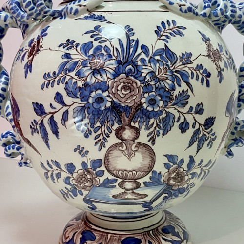 Montpellier - Olliver Factory - Large pharmacy vase - Around 1700 - Louis XIV