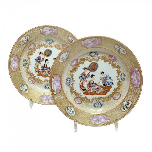 China - Pair of plates - Qianlong period (1735 - 179