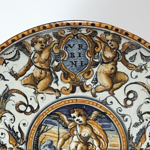 Pedestal cup in Urbino majolica - Patanazzi workshop - Dated 1638 - Porcelain & Faience Style Renaissance