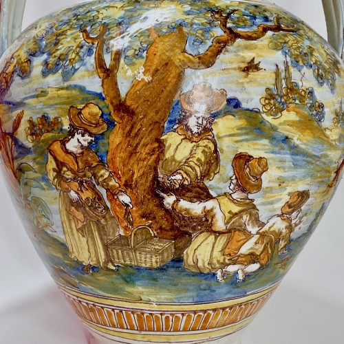 Louis XIV - Talavera de la Reina 1680-1700  - Jar decorated with bird hunting scene