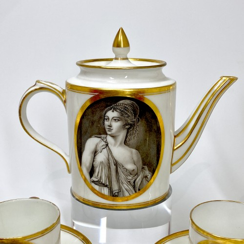 18th century - Coffee service with grisaille decoration - Paris - circa 1800
