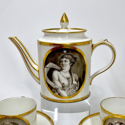 Coffee service with grisaille decoration - Paris - circa 1800 - Directoire