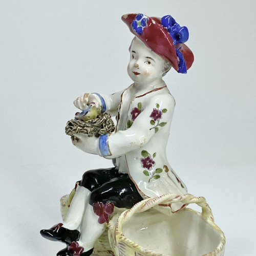 double salt cellar in Strasbourg earthenware - Porcelain & Faience Style Louis XV