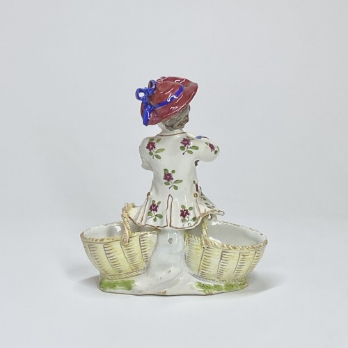 Porcelain & Faience  - double salt cellar in Strasbourg earthenware