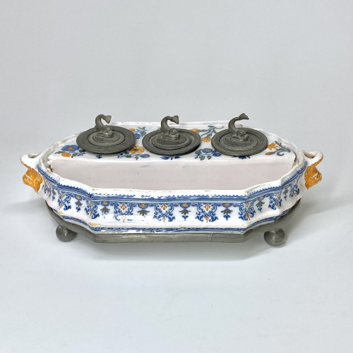Moustiers Earthenware writing case - Mid Eighteenth century - Porcelain & Faience Style Louis XV