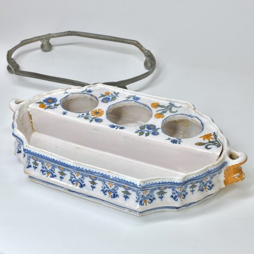 Moustiers Earthenware writing case - Mid Eighteenth century - Louis XV