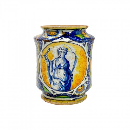 Albarello in Venetian majolica - Workshop of Maestro Domenico  16th century