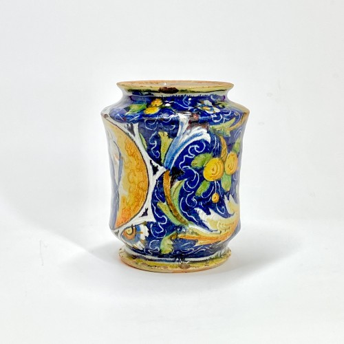 Albarello in Venetian majolica - Workshop of Maestro Domenico  16th century - Porcelain & Faience Style Renaissance