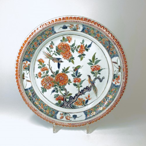Porcelain & Faience  - China - Pair of famille verte dishes - Kangxi period (1662-1722)