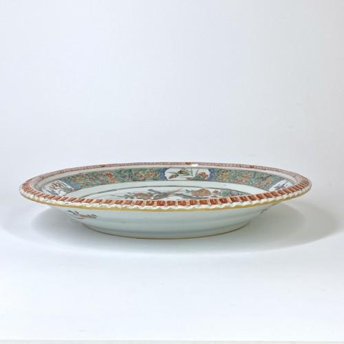 China - Pair of famille verte dishes - Kangxi period (1662-1722) -