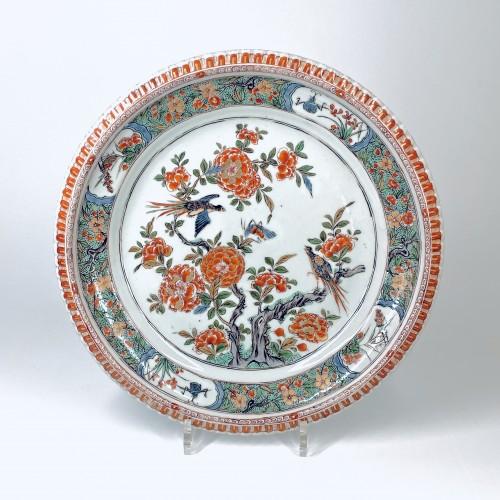 18th century - China - Pair of famille verte dishes - Kangxi period (1662-1722)