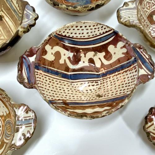 Six Hispano-Moorish ceramic bowls - Sixteenth century - Porcelain & Faience Style Renaissance