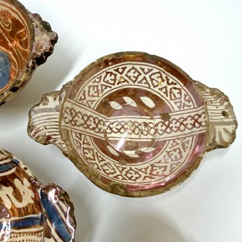Renaissance - Six Hispano-Moorish ceramic bowls - Sixteenth century