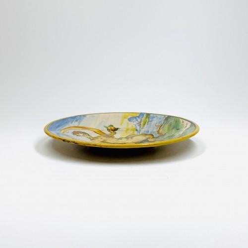 Small tondino in Venetian majolica - sixteenth century - Porcelain & Faience Style Renaissance
