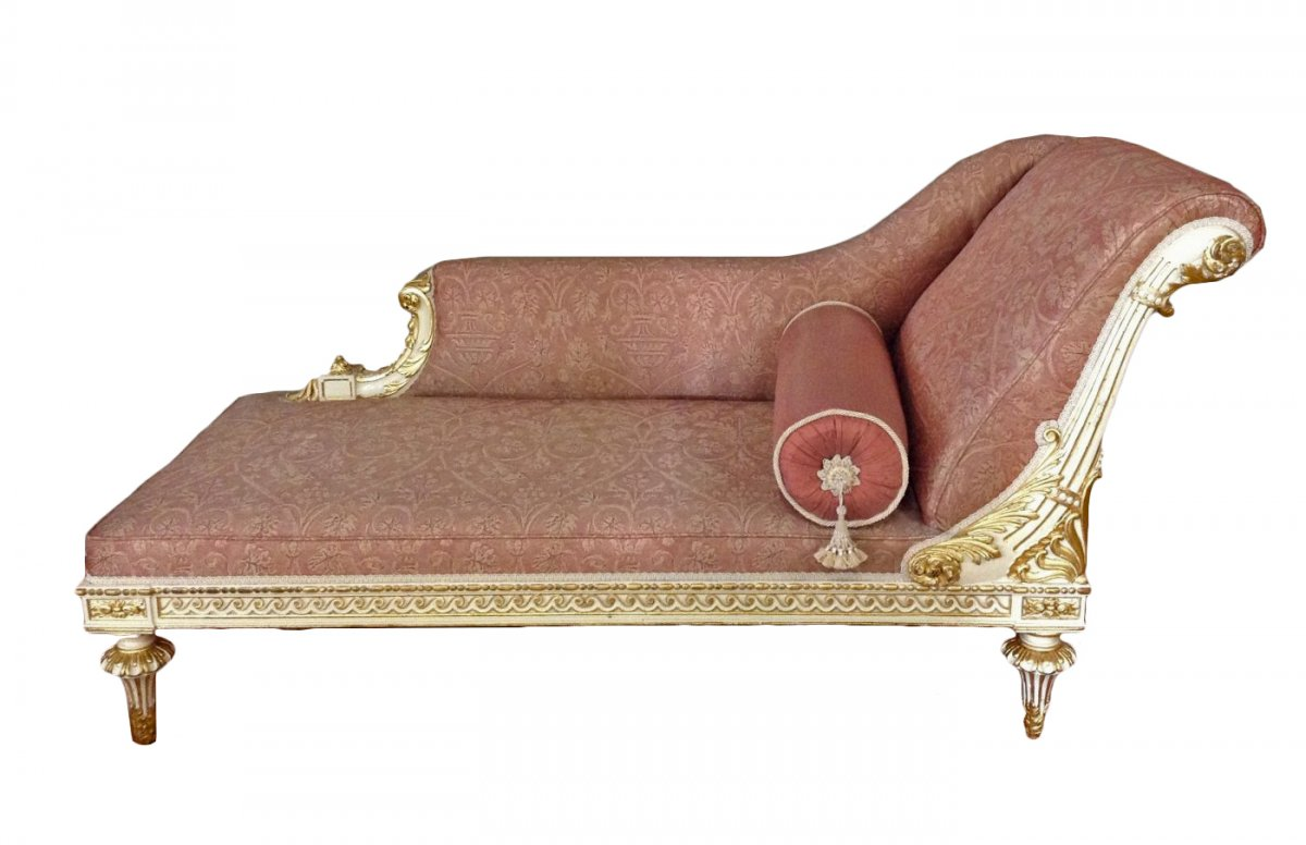 louis xvi style chaise longue. Black Bedroom Furniture Sets. Home Design Ideas