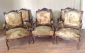 French Napoleon III 9 piece Salon suite