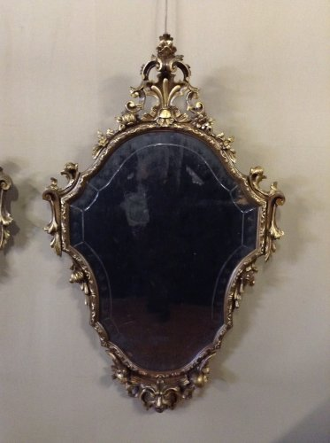 Mirrors, Trumeau  - Pair of Louis XV style giltwood mirrors