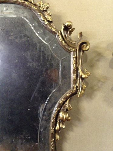 Antiquités - Pair of Louis XV style giltwood mirrors