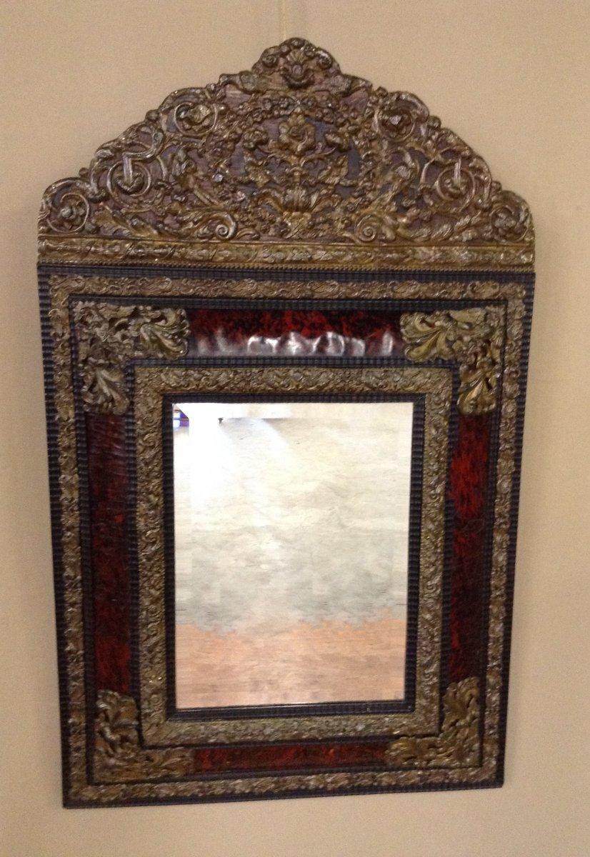 Miroir fronton d 39 poque louis xiv xviiie si cle for Miroir louis xiv