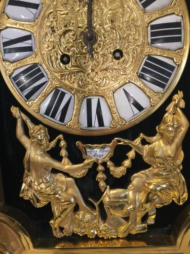 Large 19th century gilt bronze clock by Lerolle Brothers Paris -