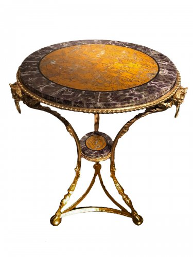 Late 19th century Gilt bronze pedestal table