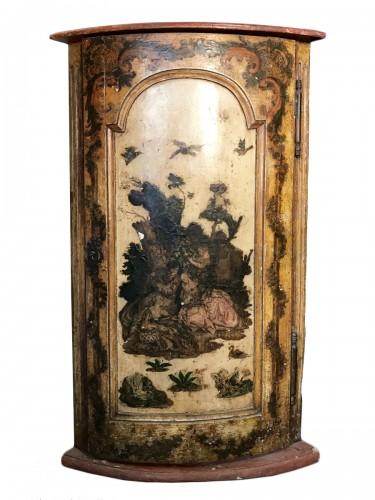 Italian corner cabinet in Arte Povera, 18th century