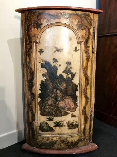 Italian corner cabinet in Arte Povera, 18th century - Furniture Style